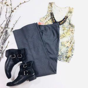 Isaac Mizrahi Gray Flare Trouser Dress Pants